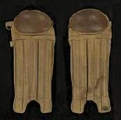 Early GoldSmith Reeded Baseball Shin Guards