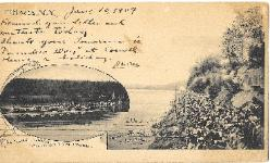 1907 Cornell Postcard - Rowing