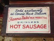 c.1960 Famous United Sausage Sign - Connie Mack Stadium
