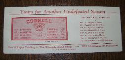1939 Cornell Football Ink Blotter