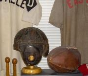 Leather Football Helmet - Grange Style - Spalding ZH