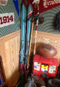 1940s Vintage Skis and Bamboo Poles